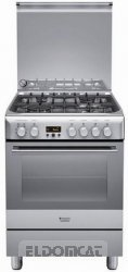 Hotpoint ariston h6t9a1f c x it cucina - Cucina ariston 4 fuochi ...